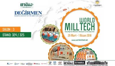 World Mill Tech 2018 Dünya Değirmen Makineleri Teknolojileri ve Yan Sanayi Fuarındayız